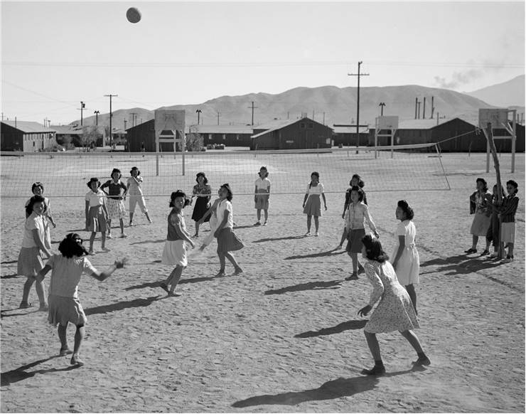 Women Playing Volleyball 1943